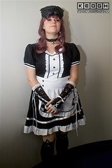 IMG_6944 (Neil Keogh Photography) Tags: apron black blouse cosplay cosplayer dokidokifestivalmanchester2016 dress female frenchmaid gloves highheels japanesemaid maidcafe mask skirt stocking sweetlolita tights white