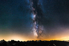 Panorama (Jamani Caillet) Tags: stars starscape starry star starrynight switzerland suisse swissalps schweiz swiss sky wallis wide étoiles etoiles romandie romande randonnée tokina mountains montagne montagnes mountain voie paysage paysages alps alpes astrophotography hiking landscape lactée galaxy galaxie exposure long valais backcountry bosson becs de nightscape nature milkyway milky