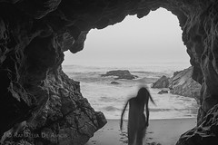 (RaffaLUCE) Tags: monochrome backlighting fujixt1 cave contemporaryart conceptualphotography longexposure beach waves blackandwhite rockybeach beachcave motionblur moody malibu leocarillostatepark