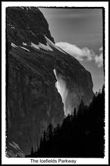 Jasper Canada's  National Park June 29 2017 IMG_1306 (ROHphotos.) Tags: waterfalls waterfall slowwater bw blackandwhite mountains rockymountains banff jasper theicefieldsparkway canada alberta