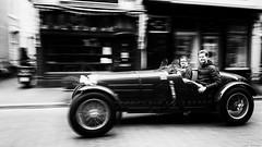 Time machine. (jaap spiering | photo projects int.) Tags: jaapspiering jaapspieringphotographer jaapspieringfotografie blackandwhite monochrome zwartwit bw noiretblanc bnw streetphotography street people mens mensen gx8 classicalcar