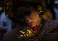 A teenage girl in traditional costume crying before a tooth filing ceremony, Bali island, Canggu, Indonesia (Eric Lafforgue) Tags: asia asian bali bali2465 balinese beliefs canggu ceremony clothing colorimage customs emotion filing headshot hindu hinduism horizontal indigenouspeople indonesia indonesian indonesianculture mesangih oneperson outdoors realpeople rite rites ritual spiritual toothfiling tradition traveldestination baliisland