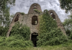 Racton tower, again. (Brian Southward) Tags: hdr easyhdr ruins architecture fisheye samyang75mm