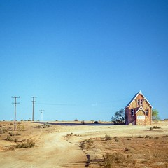 Silverton. (Bill Thoo) Tags: silverton nsw australia outback bush country rural newsouthwales ghosttown church travel landscape arid desert film filmphotography filmcamera 35mmfilm dirt dust grain filmgrain