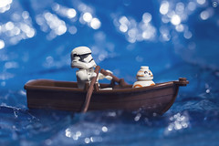 Trooper Boat Trip (jezbags) Tags: lego legos legostarwars toys toy starwars minifigure minifigures macro macrophotography macrodreams macrolego canon60d canon 60d 100mm closeup upclose forceawakens bb8 stormtrooper stormtroopers troopers trooper sea boat water blue ocean lake
