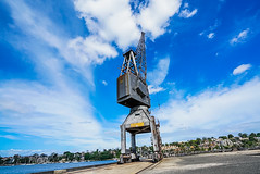 DSC00575 (Damir Govorcin Photography) Tags: wide angle crane sky clouds water cockatoo island sydney composition creative perspective zeiss 1635mm sony a7rii harbour