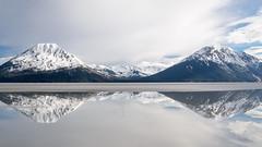 Turnagain Arm low tide (snooker2009) Tags: alaska turnagain girdwood water tide mountain snow snowcap cap reflection