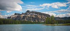 Panorama Two Jack Lake (tibchris) Tags: banff banffnationalpark lake mountain panorama landscape nature park outdoors canada alberta travel