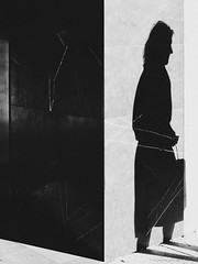 """What men call the shadow of the body is not the shadow of the body, but is the body of the soul."" Oscar Wilde (michelle-robinson.com) Tags: lightanddark vsco editedonipad brisbane pillar corner xt10 27mm shadow candid queensland bw shadows australia diagonal everyday shape life abstract photography everydayaustralia blackandwhite editedonipadpro streetphotography blackandwhitephotography angles flickrelite observation builtstructure adelaideartist angle michellerobinson simplicity urban lightandshadows woman wall monochrome adelaidephotographer fujifilm street"