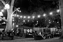 Party at Park (Janne Räkköläinen) Tags: fringe festival adelaide australia party park people peopleonstreets lights blackwhite bw bnw urban streetphotographing streetlife cityview citylife citylights fun trees chair fujifilm fuji fujifilmx70 x70 photographing photograph night evening event amateur amateurphotographing 2017 lifeisgood lifeisfun