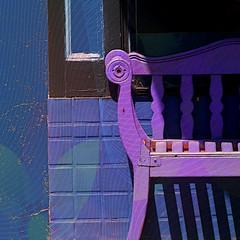 purple bench fx (msdonnalee) Tags: bench purple wall shadow fx digitalfx pixlr скамейка banco bank ベンチ banc