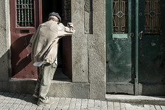 Man of Porto (jockellucas) Tags: color street streetphotography old man doors porto portugal
