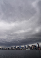 Space Needle 5 (buddythunder) Tags: seattle usa wa spaceneedle travel 2017 tower skyline skyscrapers clouds overcast moody foreboding ominous wideangle harbour