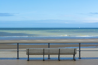Fence, bench and sea