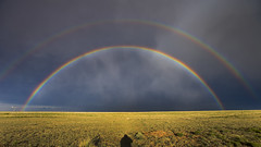 Double Rainbow - A miracle (Ryan Wunsch) Tags: rainbow stormchasing stormchaser newmexico roswell doublerainbow sky
