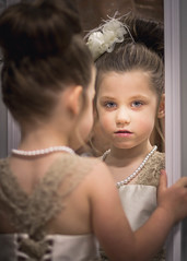 Flower Girl - Explored 6/15/17 (Gabby Pike) Tags: wedding flower girl flowergirl dress mirror reflection portrait portraits portraiture child daughter small young youth children photography marriage married