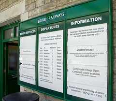 Swanage to Wareham Departures (Sarum33) Tags: swanage railway wareham timetable