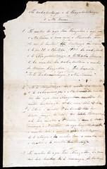 Draft of He Whakaputanga o te Rangatiratanga o Nu Tirene [1 of 2]