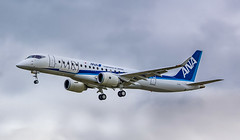 JA23MJ Mitsubishi MRJ90STD @ Exeter Airport, Devon. (D&C Aviation Photography) Tags: ja23mj mitsubishi mrj90std exeter airport devon mrj mrj9 airplane aviation flying flight planes avgeek blue sky japan japanese