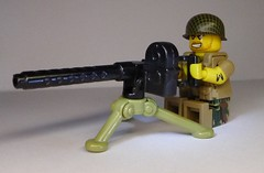 Weird War Marine Raider with XM1919 MG (ANM2 Barrel and Tombstone Ammo Box Prototypes) (enigmabadger) Tags: brickarms lego custom minifig minifigure fig weapon weapons accessory accessories combat war weird scifi sciencefiction alternate alt history prototypes proto protoz