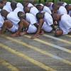 Caught gang members in El Salvador. (slrn579537065) Tags: legirons cuffedbehindhisback maleprisoner