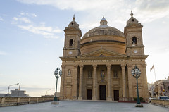 Parish Church of the Assumption of the Blessed Virgin Mary into Heaven (RedPlanetClaire) Tags: malta maltese mediterranean sea island europe european ghajn tuffieha bay sunset evening mgarr parish church assumption blessed virgin mary heaven catholic