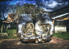 I Hold and Am Held (nigdawphotography) Tags: hands held hold sculpture religion woodbridge suffolk