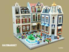 Haymarket (snaillad) Tags: lego town city moc modular square piazza place haymarket building