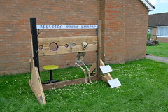 Appleton Wiske Pillory (Glass Horse 2017) Tags: appletonwiske festival2017 yorkshire scarecrow pillory stool skellington skeleton