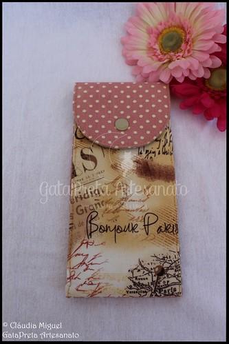 """Capa de livros, carteira e estojo """"Outono Parisiense"""""""