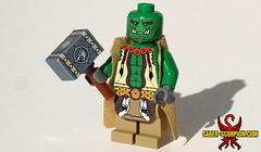 Elements guide me! (Saber-Scorpion) Tags: lego minifig minifigures moc orc orcish horde warcraft wow worldofwarcraft blizzard hearthstone doomhammer shaman