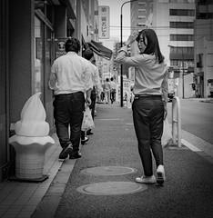 Posing #2 (Bill Morgan) Tags: fujifilm fuji x100f bw jpeg street tokyo toranomon