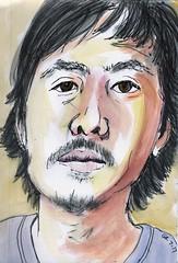 Bren (Gila Mosaics n'stuff) Tags: portrait art artist pen watercolor portraitparty jkpp