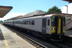 153305 , 153361 and 158766 at Yatton (neiljennings51) Tags: gwr first great western railway train station yatton dmu railcar class 153