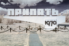 Sign of the times, Pripyat (IR) (Sean Hartwell Photography) Tags: ir infrared pripyat chernobyl nuclear disaster accident radiation fallout ukraine ussr radioactive sign falsecolour 1970 1986