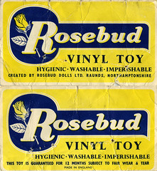 Rosebud Header (The Moog Image Dump) Tags: vintage rosebud squeaker teddy sheriff gun squeaky toy star cute kawaii cowboy orange soft vinyl header card logo hygienic washable imperishable