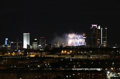 Fiesta (Mariano Alvaro) Tags: real madrid futbol bernabeu fuegos fiesta torres luces noche