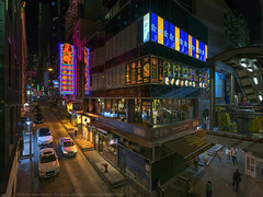 Central, Hong Kong (mikemikecat) Tags: a7r twilight nightscape nightview night 夜景 mikemikecat nostalgia vintage house stacked structures people street scenery snapshot sonya7r fe1635mm sel1635z central cityscapes carlzeiss 中環