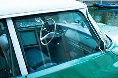 170708_L1003555 (Jan Jacob Trip) Tags: 35mm leiden summicron car vehicle boat water ds citroën citroen déesse reflection green blue white