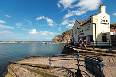 Cod & Lobster Staithes (Mike.Dales) Tags: staithes harbour pub england northyorkshire codandlobster fishingboats
