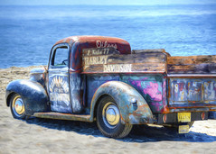 Ford Pickup (Daveyal_photostream) Tags: digitalart meandmygear mygearandme mycamerabag motion nikon nikor newjersey nature truck topazimpressions ocean d600 patina wheels classiccar ford harleydavidson oilers raceofgentlemen2017 wildwood cooltrucks pastels beach vehicle painting photopainting