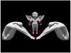 La Luna - Nature and Art: Love never dies ( one of my creations in Second Life ) (Luna Larsen ( Luna Blue Larsen )) Tags: lunalarsen secondlife lalunanatureandart virtualworld art sculpture mesh love blackandwhite skulptur kunst schwarzundweis liebe engel angel pain schmerz lovers liebende