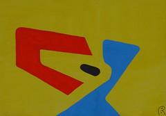 Headshrinker / zielenknijper   -  by Jan Theuninck, 2017 (Gray Moon Gallery) Tags: jantheuninck headshrinker zielenknijper oasis dog yellow black blue red shrink