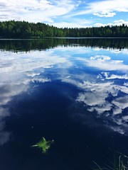 Day Biking (pjen) Tags: finland nordic boreal lake nature summer clouds reflection sky fresh clear clean quiet still calm silence quietness