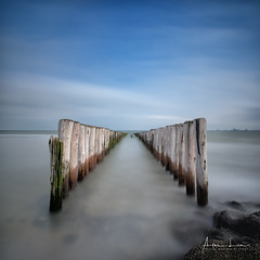 Breakwater Symmetry I (Alec Lux) Tags: breskens beach breakwater coast coastline groyne landscape landscapephotography long exposure longexposure longexposurephotography nature naturephotography netherlands ocean poles scenic sea seascape seascapephotography sky smooth symmetry water waves zeeland nl