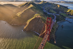 The Golden Gate Dream (TIA International Photography) Tags: goldengate bridge sanfrancisco sf california northern west coast bay bayarea marincounty marin headlands mountains valley sausalito landmark icon world wonder architecture aerial view pacificocean highway 101 fort baker san fran day daytime afternoon golden gate suspension ggb pacific pch scenic ocean sunny ambiance fog foggy mist misty sunlight lime point needles moore road natural landscape tosinarasi tia ©tiainternationalphotography visipix