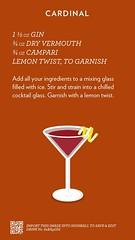 Cardinal, check out more cocktails at http://ift.tt/2dslAbC (cocktailflashcards) Tags: highball cocktail cardinal gin dry vermouth campari lemon twist