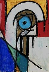 Athena (Zntt) Tags: art life arte colors cubism woman cores collori beaty fineart oil oilpastel pastel pastels blue pink yellow canvas study night noite azul amarelo painting