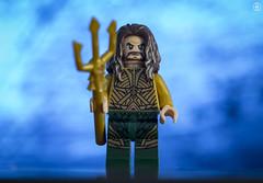 Aquaman (jezbags) Tags: lego legos toys toy minifigure minifigures macro macrophotography macrolego macrodreams canon60d canon 60d 100mm closeup upclose justice justiceleague league dc dclego legodc aquaman aqua trident blue