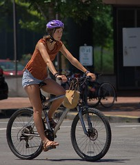 Bicycle Ride (swong95765) Tags: woman female lady bicycle helmet ride riding street